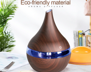 Wood Ultrasonic Air Humidifier Essential Oil Aromatherapy Cool Mist Maker