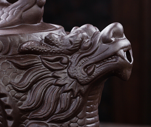 Traditional Purple Clay Dragon &  Phoenix Chinese Tea Pot