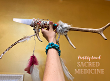 Load image into Gallery viewer, Deer Antler Shamanic Fertility Wand