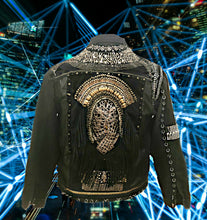 Load image into Gallery viewer, Boho Chic Gender Neutral Night Hawk Jacket