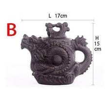 Load image into Gallery viewer, Traditional Purple Clay Dragon &  Phoenix Chinese Tea Pot