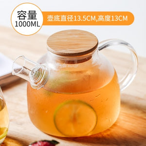 Heat-Resistant Large Clear Tea Pot