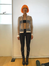 Load image into Gallery viewer, Silent Whisper Silver Metallic Organza Bomber Jacket