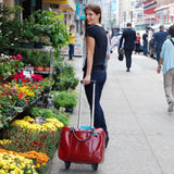Kristen Wheeled Laptop Bag, scarlet