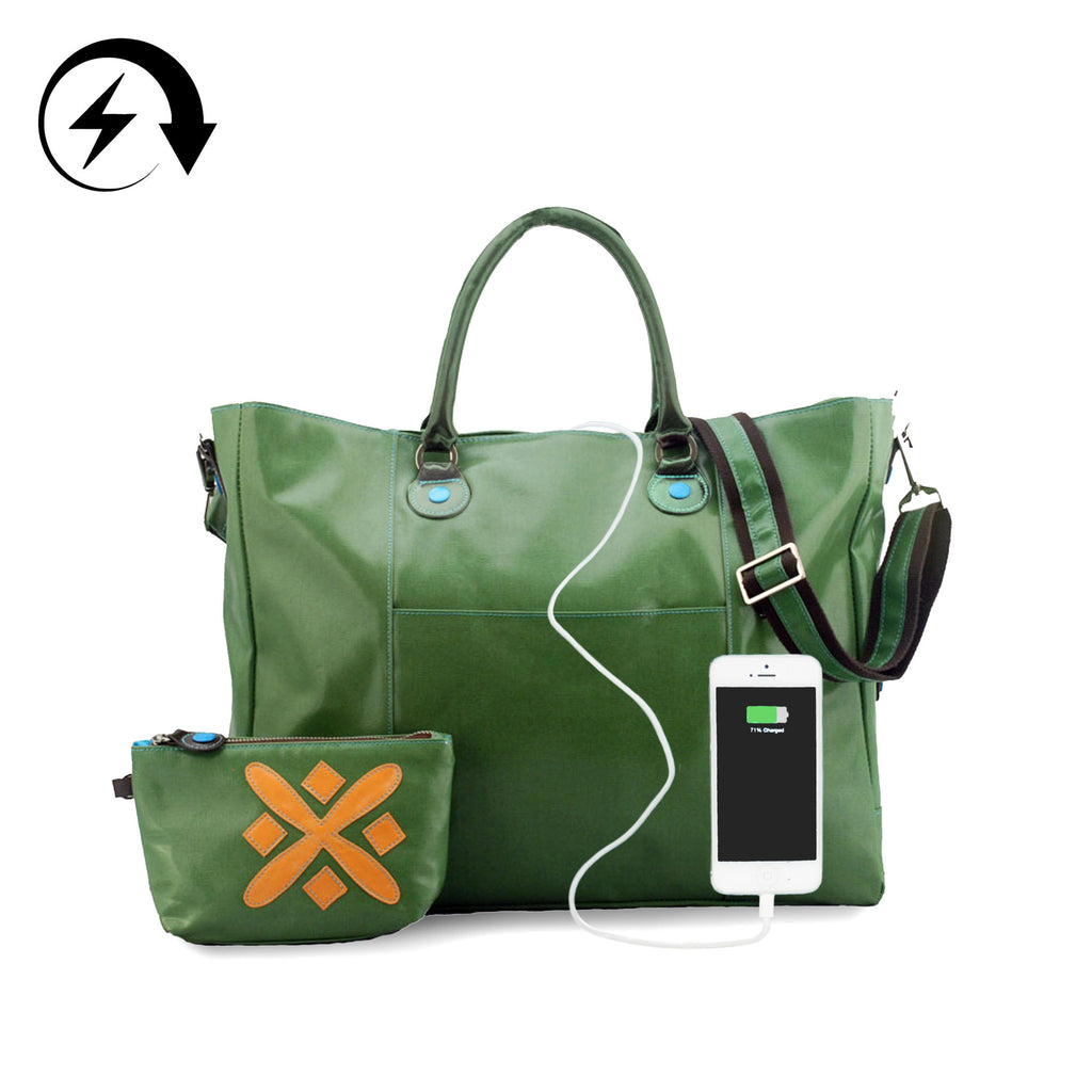 "15"" Laptop Messenger/Backpack + Portable Charger"
