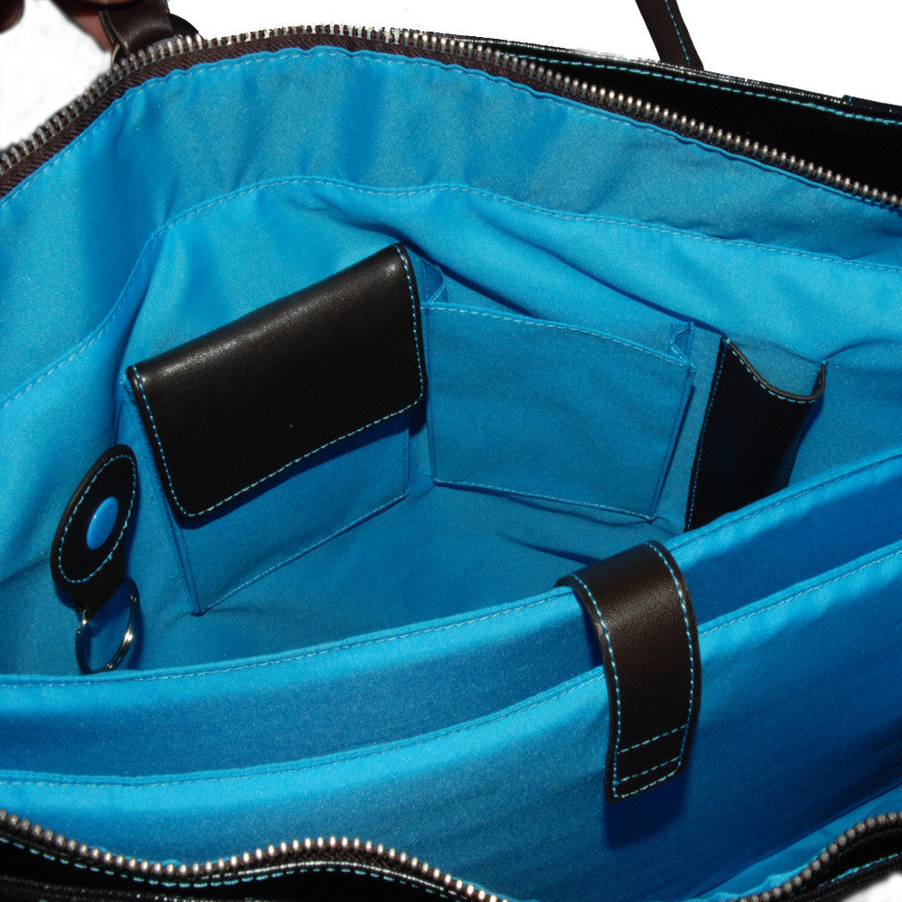 "15"" Laptop Messenger/Backpack - inside"