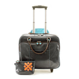 Kristen Wheeled Laptop Bag (Grey Camouflage)
