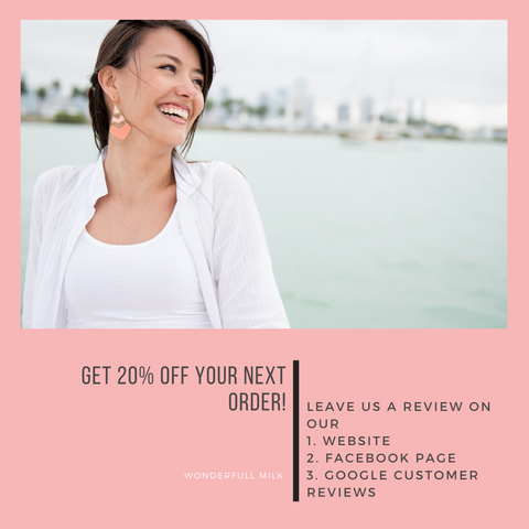 Get 20% off your next order when you leave us a review!