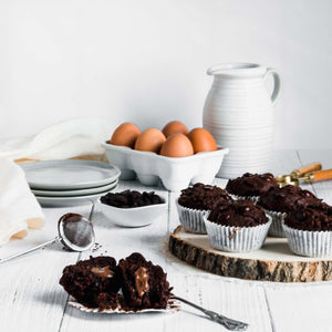 Muffins - Dark Chocolate Stuffed Lactation Muffins -Wonderfull Milk