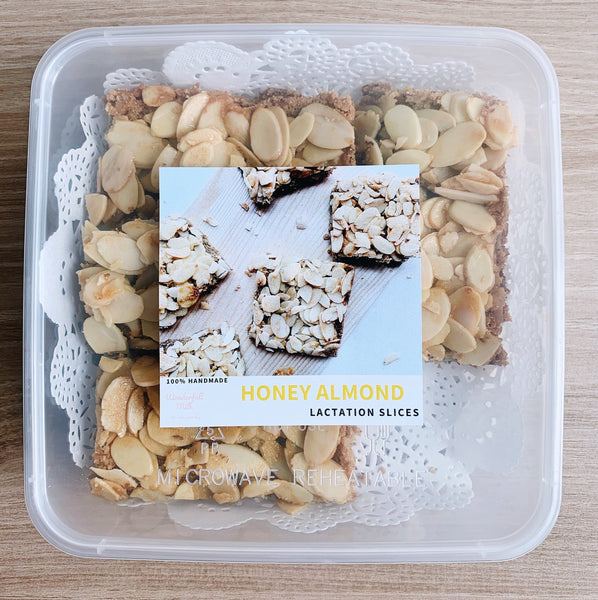 Honey Almond Lactation Slices Packaging