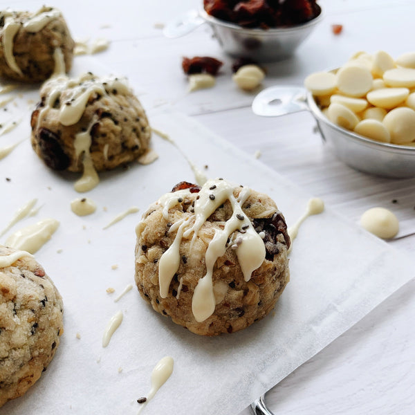 Cookies - White Chocolate Cranberry Lactation Cookies -Wonderfull Milk