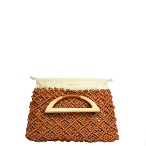 Abrita Knotted Clutch Terracotta