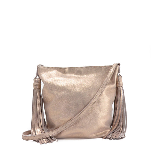 Asakapae Mini Crossbody Shimmer Rose Gold