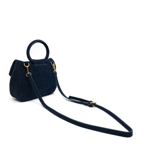 BAUTISTA MINI CROSSBODY SUEDE NAVY