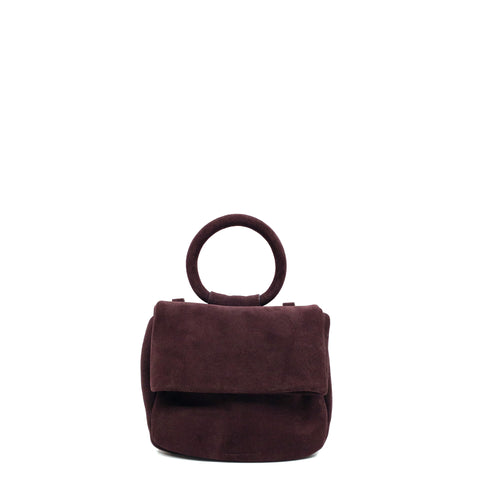 BAUTISTA MINI CROSSBODY SUEDE WINE