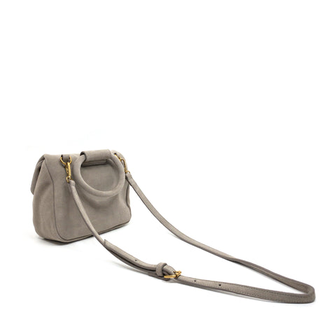 BAUTISTA MINI CROSSBODY SUEDE TAUPE