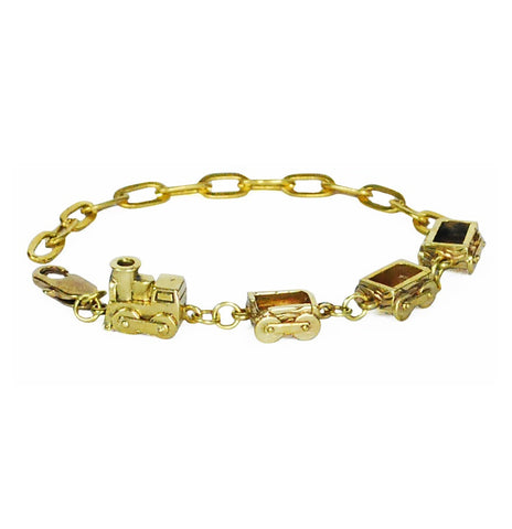 Brass Choo Choo Train Bracelet