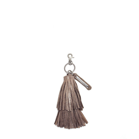 Cava Double Tassel Key Fob Champagne