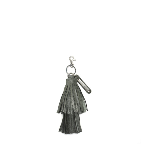Cava Double Tassel Key Fob Grey