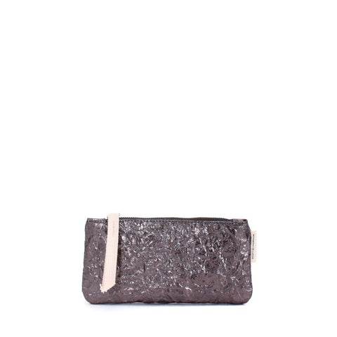 Cha Cha Metallic Flat Pouch Anthracite