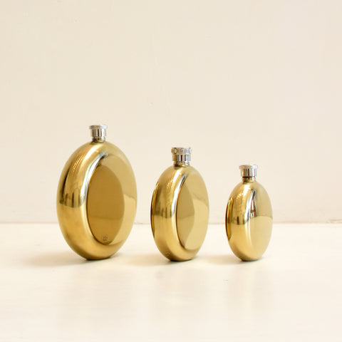 BRASS ROUND FLASKS