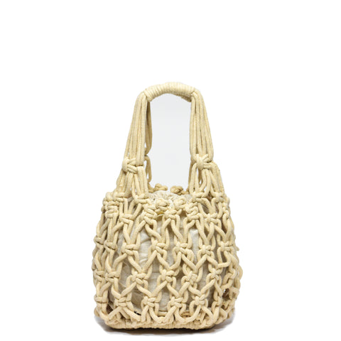 Miel Knotted Bucket Bag Cream