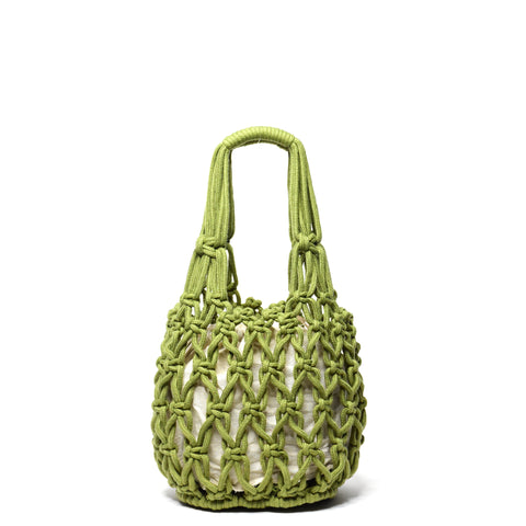 Miel Knotted Bucket Bag Olive