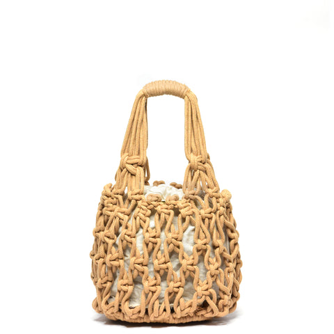 Miel Knotted Bucket Bag Tan