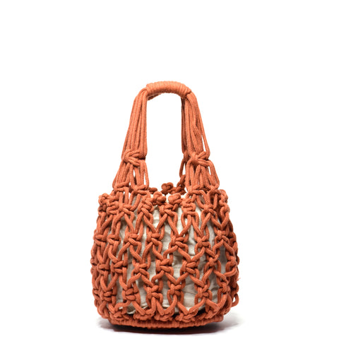 Miel Knotted Bucket Bag Terracotta