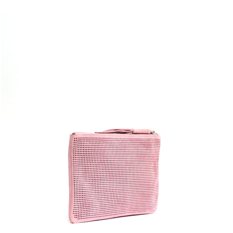 Orado Perforated Suede Pouch Small Blush