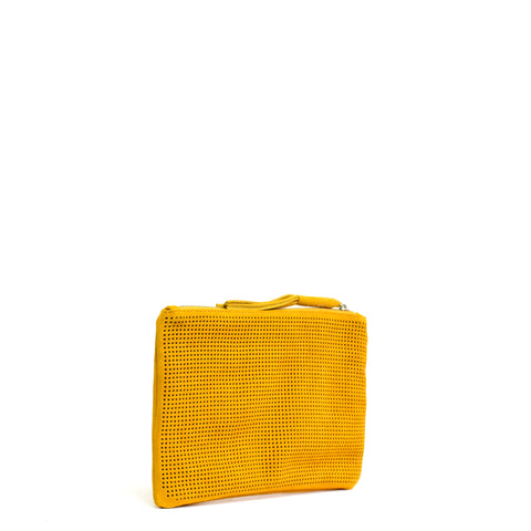 Orado Perforated Suede Pouch Small Marigold