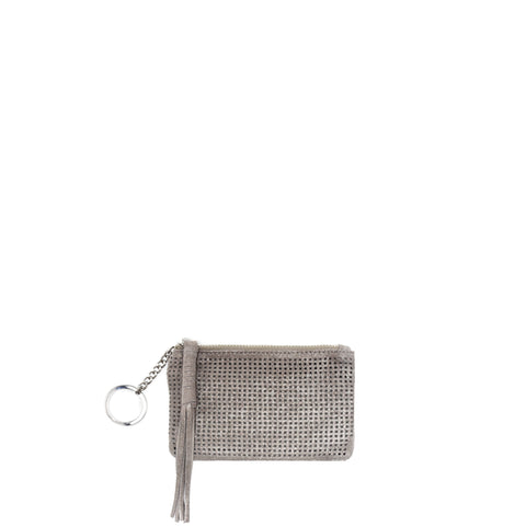 Orado Perforated Shimmer Key Fob Taupe