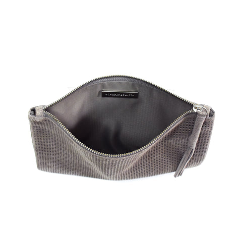 Orado Perforated Shimmer Pouch Large Taupe