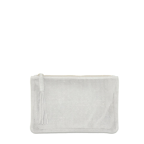 Orado Perforated Shimmer Pouch Large Opal