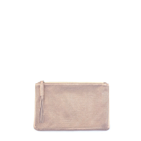 Orado Perforated Shimmer Pouch Small Rose Gold