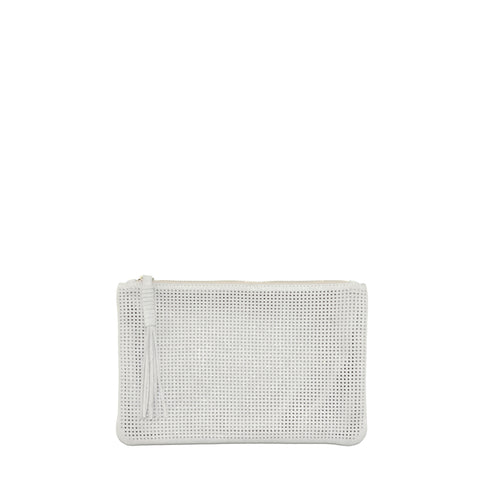 Orado Perforated Shimmer Pouch Small Opal