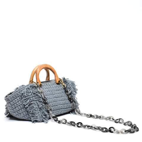 Philomena Crochet Crossbody Blue