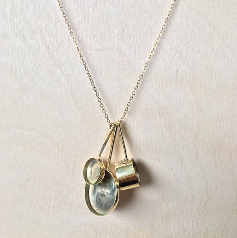 Brass Pots And Pans Necklace