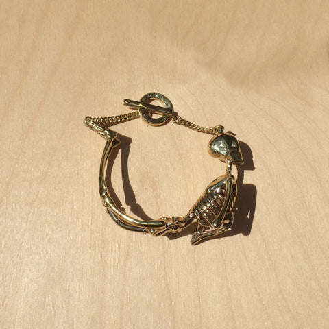 Skeleton Brass Bracelet