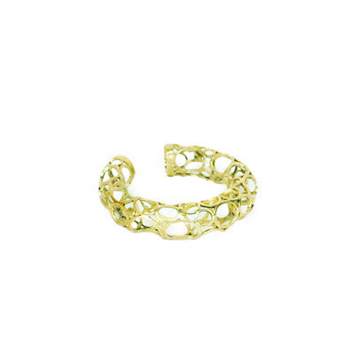 Large Circles Brass Bracelet