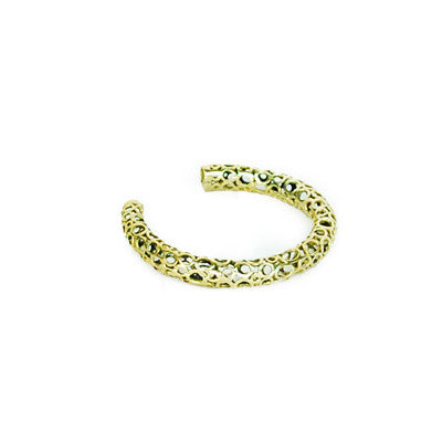 Small Circles Brass Bracelet