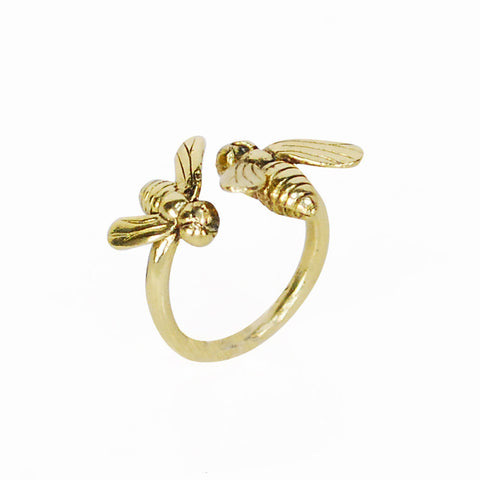 2 Flies Brass Ring