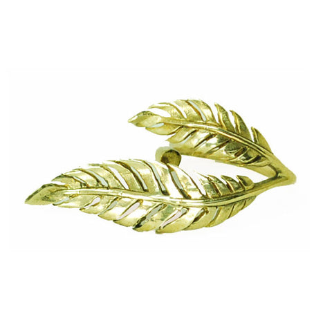 2 Leaf Brass Ring