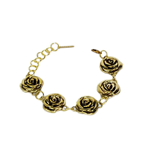 5 Rose Brass Bracelet