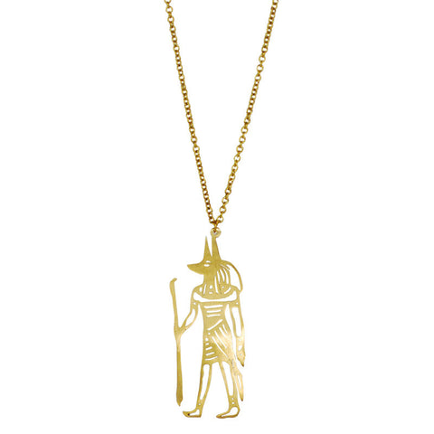 Anubis Brass Necklace