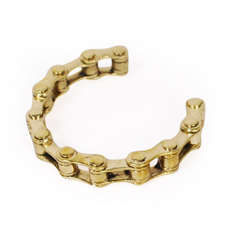 Bike Chain Brass Bracelet