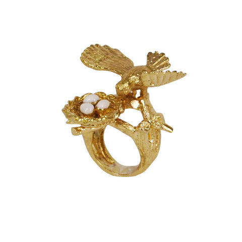 Bird Nest Brass Ring