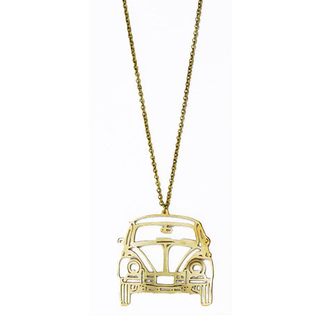 Buggie Car Brass Necklace