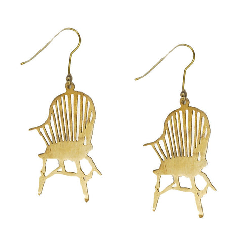 Country Armchair Brass Earrings