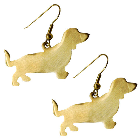 Dachshund Brass Earrings